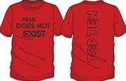 "T-Shirt TOP TEN ""FEAR DOES NOT EXIST"" Red"